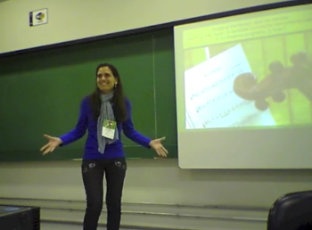 Brazil Strings founder Vanessa Rodrigues presenting her pedagogical work at the ISME 2014 conference in Porto Alegre, Brazil.
